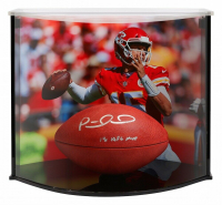 "Patrick Mahomes Signed ""The Duke"" Official NFL Game Ball Inscribed ""18 NFL MVP"" with Curve Display Case (Fanatics Hologram)"