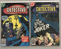 "Lot of (2) 1978 ""Batman's Detective Comics"" 1st Series DC Comic Books with #475 & #476"