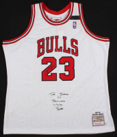 Michael Jordan Signed LE Chicago Bulls Authentic Mitchell & Ness Jersey with Custom Embroidery (UDA COA)