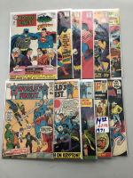 """Lot of (11) 1967-1971 """"World's Finest"""" DC Comic Books from #172-207"""