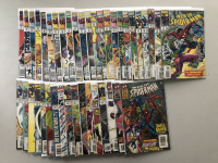 """Lot of (41) 1992-1995 """"Web of Spider-Man"""" 1st Series Marvel Comic Books from #84-129"""