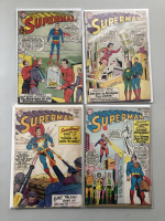 """Lot of (4) 1963-1964 """"Superman"""" 1st Series DC Comic Books with #158, #159, #161, #168"""