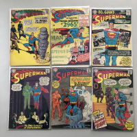 """Lot of (6) 1965-1966 """"Superman"""" 1st Series DC Comic Books with #177, #181, #183, #186, #190, #191"""
