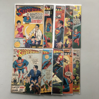 """Lot of (10) 1966-1971 """"Superman"""" 1st Series DC Comic Books with #192, #195, #198, #206, #210, #219, #229, #230, #234, #237"""