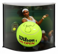 "Serena Williams Signed Oversized 9"" US Open Tennis Ball with Curve Display Case (UDA COA)"