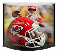 Patrick Mahomes Signed Kansas City Chiefs Full-Size Authentic On-Field Speed Helmet with Curve Display Case (Fanatics Hologram)
