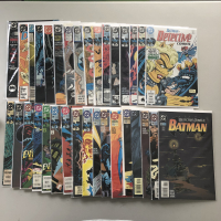 """Lot of (33) 1987-1995 """"Detective Comics"""" 1st Series DC Comic Books from #573-687 with Annual #2"""