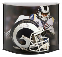 Todd Gurley Signed Los Angeles Rams Full-Size Authentic On-Field Speed Helmet with Curve Display Case (Fanatics Hologram)