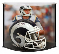 Jared Goff Signed Los Angeles Rams Full-Size Authentic On-Field Speed Helmet with Curve Display Case (Fanatics Hologram)