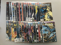 """Lot of (31) 1989-1993 """"Batman"""" DC Comic Books from #438-500 with Annuals #13 & #15"""