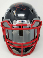 Tom Brady Signed New England Patriots Limited Edition Custom Hydro Dipped Full-Size Authentic On-Field Speed Helmet (Tristar Hologram) at PristineAuction.com