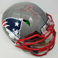 Tom Brady Signed New England Patriots Limited Edition Custom Hydro Dipped Full-Size Authentic On-Field Speed Helmet (Tristar Hologram)