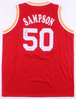 "Ralph Sampson Signed Houston Rockets Jersey Inscribed ""HOF 12"" (Fiterman Hologram)"