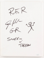 Steven Adler Signed 9x12 Canvas with Sketch & (3) Inscriptions (JSA COA)
