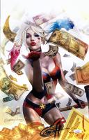 """Greg Horn Signed """"Harley Quinn: Blood Money Gold"""" 11x17 Lithograph (JSA COA)"""