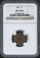 1897 1¢ Indian Head Penny (NGC MS 64 RB) at PristineAuction.com
