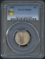 "1891 5¢ Liberty Head ""V"" Nickel (PCGS MS 64)"