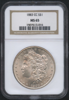 1883-CC $1 Morgan Silver Dollar (NGC MS 65) at PristineAuction.com