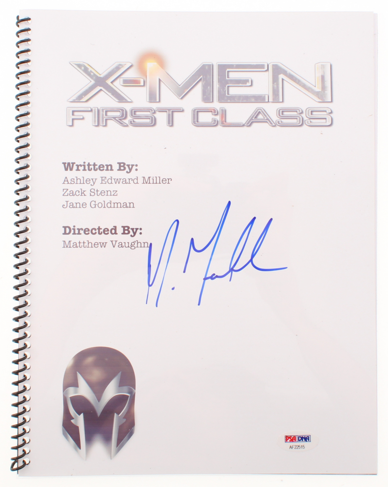 "Michael Fassbender Signed ""X-Men: First Class"" Movie Script (PSA Hologram) at PristineAuction.com"