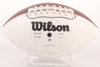 NFL Motorola Logo Football Signed by (6) with Tom Brady, Eli Manning, Roger Staubach, Kurt Warner, Howie Long & Torry Holt (JSA LOA) at PristineAuction.com