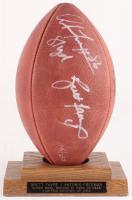 "Brett Favre & Antonio Freeman Signed LE Official Super Bowl XXXI Game Ball Inscribed ""81 yards"" (JSA COA)"