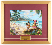 "Thomas Kinkade Walt Disney's ""Mickey & Minnie Mouse"" 15.5x18 Custom Framed Print"