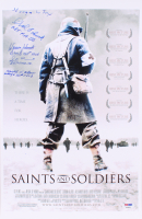 Saints and Soldiers 11x17 Movie Poster Signed by (5) Malmedy Massacre Survivors with George Fox, Harlod Billow, Theodore Paluch, Steve Domitrovich, & Warren Schmitt (PSA LOA)