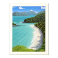 "Dan Mackin Signed ""Dancing on the Beach"" Limited Edition 12x16 Lithograph at PristineAuction.com"