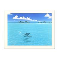 "Dan Mackin Signed ""Dolphin Trio"" Limited Edition 12x16 Lithograph (PA LOA) at PristineAuction.com"
