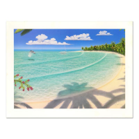 """Dan Mackin Signed """"On Holiday"""" Limited Edition 24x32 Lithograph at PristineAuction.com"""