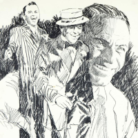 """Paul Blaine Henrie Signed """"Sinatra"""" Limited Edition 24x36 Serigraph at PristineAuction.com"""