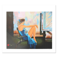 "Alexander Borewko Signed ""Lady In Blue"" Limited Edition 16x19 Serigraph at PristineAuction.com"