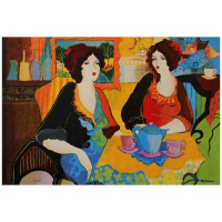 """Patricia Govezensky Signed """"Silence Beach"""" Limited Edition 15x22 Serigraph on Canvas at PristineAuction.com"""