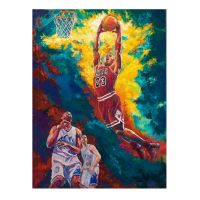 """Turchinsky Dimitry Signed """"Michael Jordan Dunks"""" Limited Edition 30x24 Mixed Media on Canvas at PristineAuction.com"""