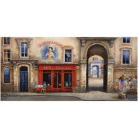 """Alexander Borewko Signed """"Cafe Du Vaudeville"""" Limited Edition 16x30 Giclee on Canvas at PristineAuction.com"""