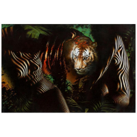 """Vera V. Goncharenko Signed """"The Ladies with the Tiger"""" Limited Edition 24x36 Giclee on Canvas at PristineAuction.com"""