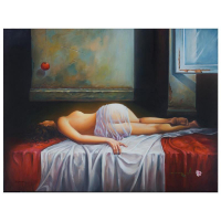 "Igor Semeko Signed ""Before i Leave"" Limited Edition 36x48 Giclee on Canvas at PristineAuction.com"