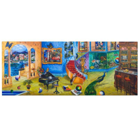 """Alexander Astahov Signed """"Beautiful Mess"""" Limited Edition 30x70 Giclee on Canvas at PristineAuction.com"""