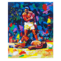 "Igor Semeko Signed ""Ali Over Liston"" Limited Edition 30x24 Mixed Media on Canvas at PristineAuction.com"