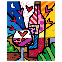"Romero Britto Signed ""Rose All Day"" Limited Edition 60x48 Giclee on Canvas"