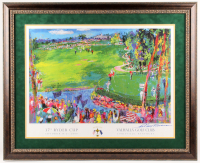 "LeRoy Neiman Signed ""37th Ryder Cup"" 31x38 Custom Framed Print Display (JSA ALOA)"