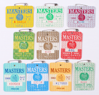Lot of (10) 1980-1989 Masters Tournament Badges