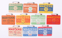 Lot of (10) 1970-1979 Masters Tournament Badges