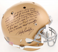 Rudy Ruettiger Signed Notre Dame Fighting Irish Full-Size Helmet with Extensive Inscription (JSA COA)