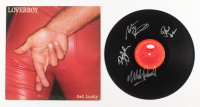 "Loverboy Signed ""Get Lucky"" Vinyl Album Band-Signed by (4) with Mike Reno, Paul Dean, Doug Johnson & Matt Frenette (JSA COA)"
