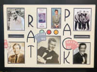"""The Rat Pack"" 32x44 Custom Framed Signature Cut Display Signed by (5) with Frank Sinatra, Dean Martin, Sammy Davis Jr., Peter Lawford & Joey Bishop (JSA LOA & COA)"