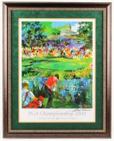 "LeRoy Neiman Signed ""PGA Championship 2000"" 29.25x36.25 Custom Framed Print (JSA ALOA)"