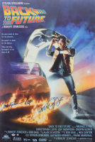 """Michael J. Fox & Christopher Lloyd Signed """"Back to The Future"""" 27x40 Movie Poster (PSA Hologram)"""