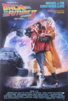 """Michael J. Fox & Christopher Lloyd Signed """"Back to The Future Part II"""" 27x40 Movie Poster (PSA Hologram)"""