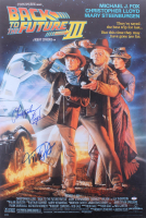 """Michael J. Fox & Christopher Lloyd Signed """"Back to The Future Part Ill"""" 27x40 Movie Poster (PSA Hologram)"""